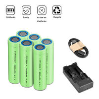 3.7V 18650 2600mAh Li-ion Rechargeable Battery For Flashlight Torch RC + Charger