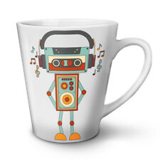 Cute Robot NEW White Tea Coffee Latte Mug 12 17 oz | Wellcoda