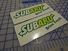 subaru drive fresh Boxer Engine Sticker Decal  STi WRX JDM BRZ Forester IMPREZA