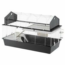 Small Pet Cage 2 Levels Saddle Roof That Completely Opens for Easy Cleaning