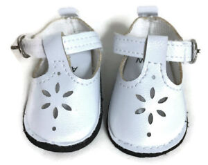 White Mary Jane Shoes for 14.5 inch American Girl Wellie Wishers Dolls