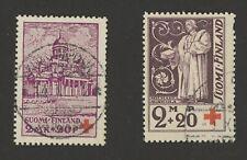Finland Stamps Scott #B10 & #B13. Both Used, HR