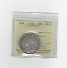 **1932**, ICCS Graded Canadian 50 Cent, **VG-8**