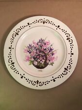 "Lenox Plate 1996 Colonial Massachusetts Bouquet Cutout Edge 10 1/2"" Numbered"
