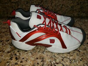 Wilson S1072 Evolution Mens Tennis Shoes White Red Charcoal SZ 12 NOS