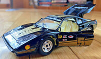 Tonka Polistil Black Ferrari 308 Vintage race car 1:24 goodyear graphics 1977