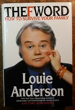 Signed Louie Anderson The F Word hcdj in vgc+ Family Comedy Humor