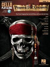 Cello PlayAlong Pirates Of The Caribbean Learn to Play Music Book/Online Audio