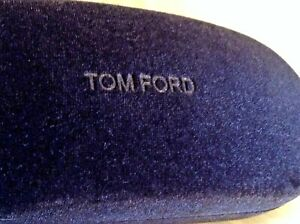 Tom Ford Clamshell Black Velvet Covered Hard Shell Eyeglass or Sunglass Case