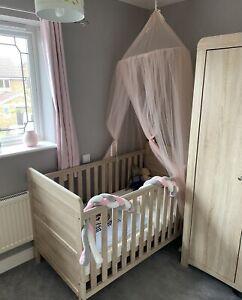 3 piece nursery furniture set Mama & papas wardrobe cot bed changing drawstation