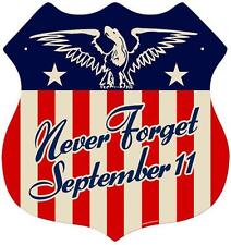 Vintage Retro Never Forget September 9/11 Metal Sign Unique Wall Decor RPC136