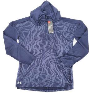 NWT Under Armour Womens Medium Blue Locker Emboss ¼ Zip Hoodie 1351230 410 Gear