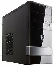PC Gaming Micro ATX Mini Tower Computer Case Shell Dual Fan Steel and Plastic