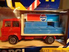 J13 IVECO TRUCK  PEPSI BOTTLING TRUCK CORGI 1/64 NEW IN USED PACKAGE 1984