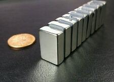10 Huge N52 Neodymium Block Magnets Super Strong Rare Earth 3/4