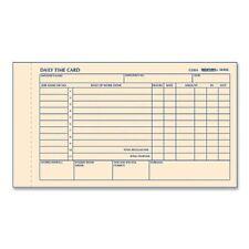 "Rediform Time Clock Cards - Gummed - 1 Part - 7"" X 4.25"" Sheet Size - Manila -"