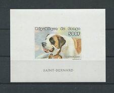 CONGO HUNDE 1999 BERNHARDINER BLOCK ungez. postfrisch ** MNH DOGS IMPERF d8680