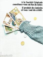 PUBLICITE ADVERTISING 016  1967  Société Générale banque le bas de laine
