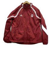 ADIDAS Climaproof INDIANA University IU Zip  Windbreaker Jacket Men's M