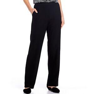 Eileen Fisher Straight Leg Yoke Pant XL NEW NWT Black $168
