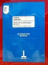 Okuma Law-R Law-Rm Oper & Maint. Manual 3587-E-R7 (Le11-048-R8) (Inv.9781)
