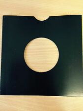 "50 X 7"" BLACK CARD RECORD MASTERBAGS SLEEVES / COVERS *NEW*"