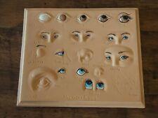 Vintage Kinsey Human Eyes Artist Chalkware Pallette