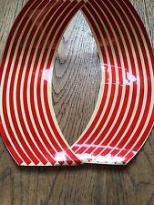 16 Red Wheel Rim Reflective Stickers Stripe Motorbike Safe Motorcycle Bike