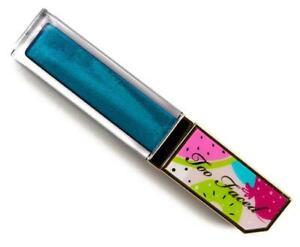 NIB TOO FACED Tutti Frutti Juicy Fruits Comfort Lip Glaze Gloss BLUE YOU AWAY