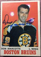 *SIGNED* 1970-71 OPC #138 DON MARCOTTE ROOKIE ~ *EX+NM* *NO CREASES~NO WRINKLES*