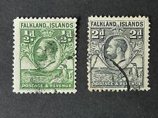 1239]  STAMPS OF  FALKLAND ISLANDS  - 1929 SG 116 & 118  - F/ USED