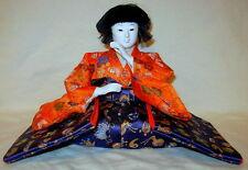Rare Vintage Gofun Asian Oriental Japanese Hina Dairi-Bina Doll