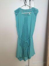 The Shanti Butterfly aqua blue summer dress S 6 as new