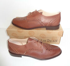 Red or Dead Womens Ladies Loafers Tan Lace Up Low Shoes New RRP £70 Size 6