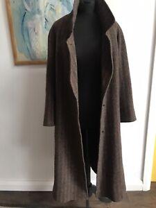 Vintage Ladies Mary Flaherty Irish Pure New tweed wool Lambswool long coat : 8