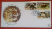 First day of issue, 1977 Indonesia, Preserve Wildlife, multi-franked