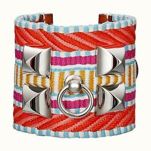 New Authentic HERMES CDC Collier de Chien Cavale bracelet Colorful Cappucine