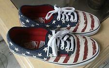 Men 6.5 Womens 8 Vans Authentic Shoes USA Flag Stars 'n Stripes new