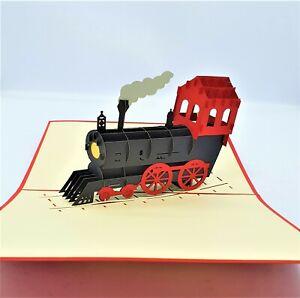BC Worldwide Ltd handmade 3D pop up card steam train birthday father's day gift