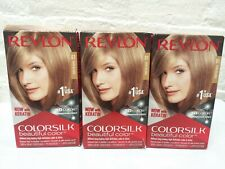 (3) Revlon Colorsilk Beautiful Color Permanent Hair Dye 61 Dark Blonde Read