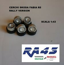 1/43 Cerchi Rims Wheels Tires Skoda Fabia R5