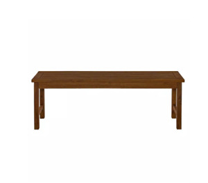 Boardwalk Dark Brown Acacia Wood Outdoor Bench by Walker Edison Furniture Comp.