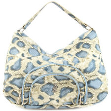 Christian Audigier Holly Snake Hobo Bag - Blue