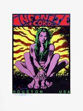 Infinite Records Houston Texas 1990s Logo Silkscreen Poster By Frank Kozik