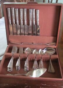 FONTAINEBLEAU GORHAM STERLING SILVER FLATWARE SERVICE FOR 8 + SERVERS 61 PIECES