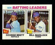 1977 TOPPS # 1 GEORGE BRETT ROYALS & BILL MADLOCK CUBS