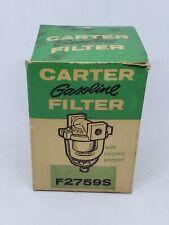 Vintage Carter F2759S Carburetor Glass Bowl Gas Fuel Filter Rat Rod ~ USA NOS