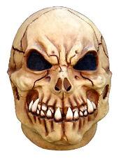 MENS BONE SKULL MASK LATEX FULL OVERHEAD SKELETON HALLOWEEN COSTUME DAY DEAD NEW