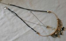 Topshop Freedom Bohemian Stone Bead And Gold Chain Necklace
