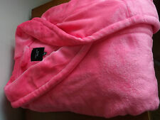 **new look** size 20/22  pinky/coral supersoft robe/dressing gown shorter style!
